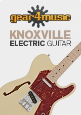 Knoxville semi-Hollow e-Gitarre von Gear4music, Elfenbein