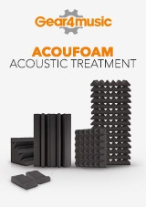 gear4music AcouFoam Acoustic Treatment